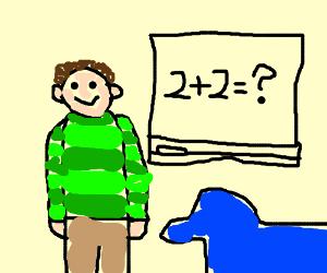 Blue's Clues doing advanced math