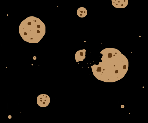 Cookies Floating Around In Outer Space