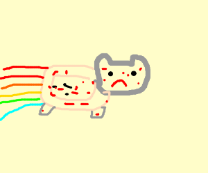 rainbow cat with chicken pox