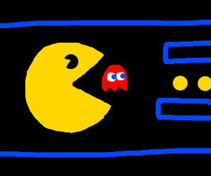 PAC-MAN Chasing A Ghost