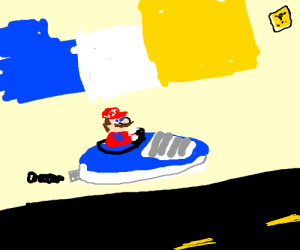 Mario is crusin' in a shoe