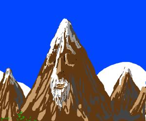 Old, sleeping mountain
