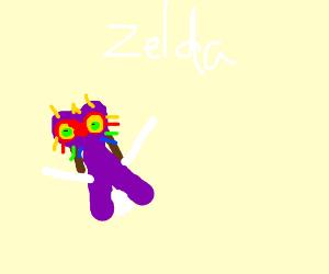 Zelda wears Majoras Mask