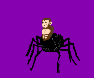 That spider-monkey is more spider than monkey!