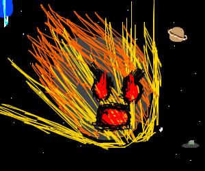 a very creepy astroid