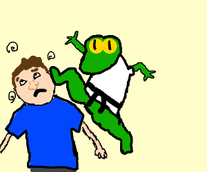 Toad Style Kung Fu of the Kwan Lun School! - Drawception