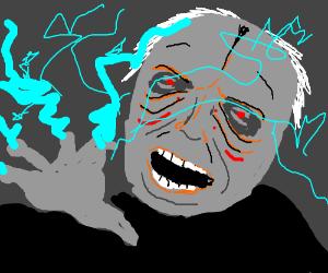 Gargamel shootin' sparks.  Static electricity?