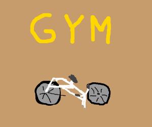 stationary bike wheel breaks off