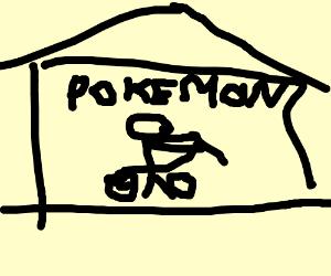 Bike sitting outside a Pokemon center?