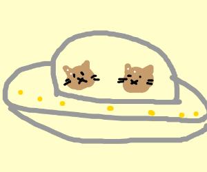 Cute Little Kitties In Cute Little Space Craft Drawing By Nasthelass