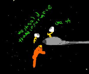 alien ship fender bender