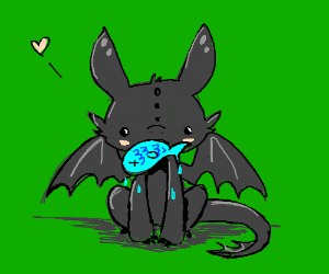 Toothless Eats Fish