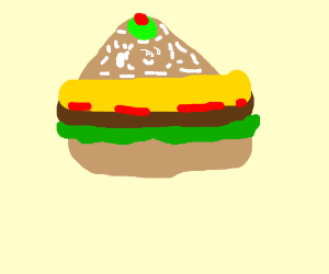 Why is there an olive on my cheeseburger?