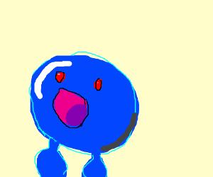 A blue, leafless Oddish