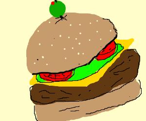 Beautiful delicious hamburger