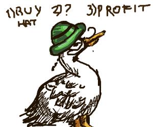 mallard buys a dapper hat in 3 easy steps