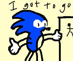 Based items sonic the hedgehog peeing practice