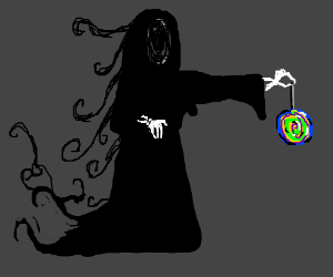 Grim reaper thinks candy is gross