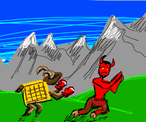 alpine ibex waffle beats up the devil