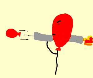 Balloonman with balloonzooka!