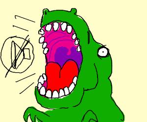Muted dinosaur