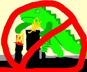 """not-godzialla"" destroying the city GRRROOAHR"