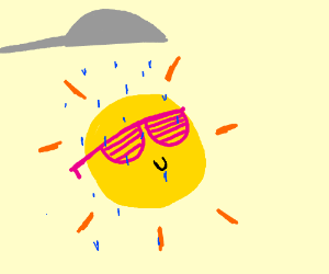 sunshine in the shower