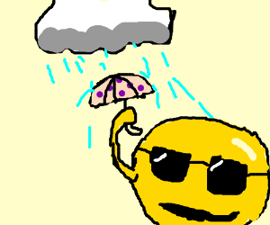 Raining on the sun with swaggy sunglasses