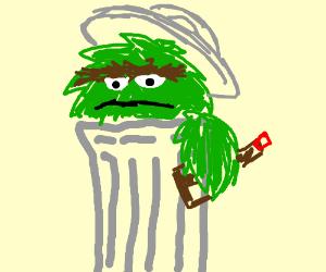 Alcoholic Sesame Street character.