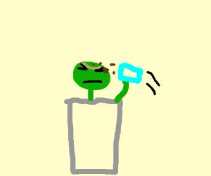 Oscar (sesamestreet) has a drinking problem