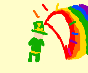 Leprechaun enter's rainbow cave