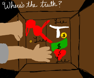 Looking for truth in a box of lies