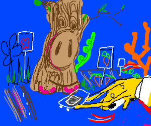 Spongebob brings another seed to pig tree