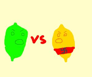 lime battles nazi lemon
