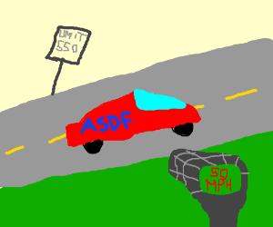 ASDF Mobile drives 500 mph under the limit