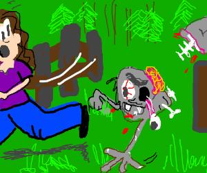 Half a Living Dead is crawling toward you!