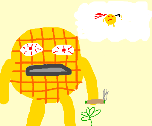 High waffle contemplates suicide