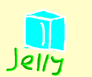 jelly ice cube