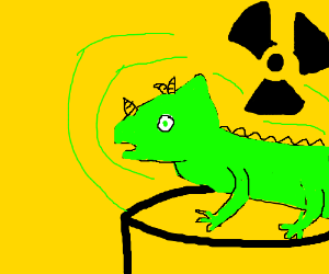 Lizzy from magic school bus becomes radioactiv
