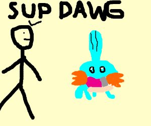 Man thinks Mudkip is a dawg