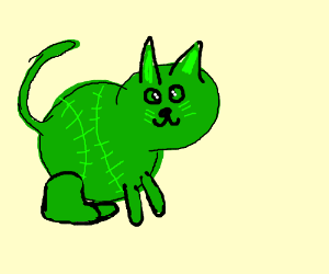 fat green baseball cat