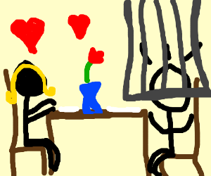 This romantic dinner is A TRAP!
