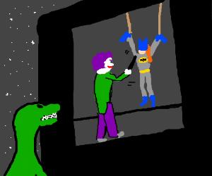 Dinosaur turned on by Joker torturing Batgirl