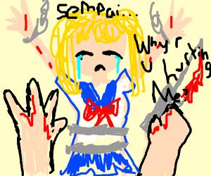 s-s-senpai... why u hurt m-me...