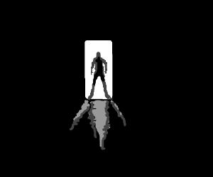 The man in the doorway