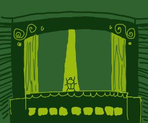 A bug's theatre