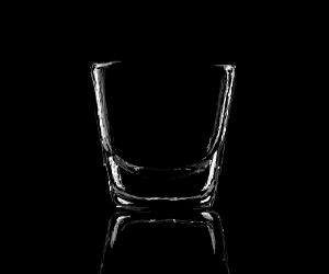 radiant shotglass in the dark