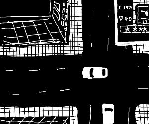 Black and white...Grand theft auto?