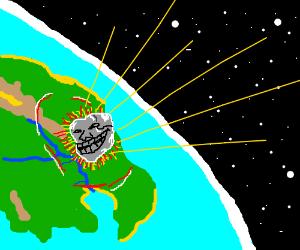 Incoming troll meteorite