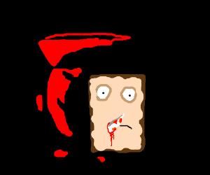 Kool-Aid Man stabs strawberry Poptart